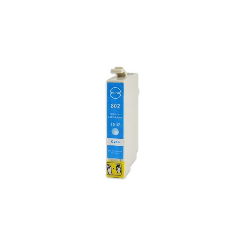 EPSON T0802 cyan bläckpatron kompatibel
