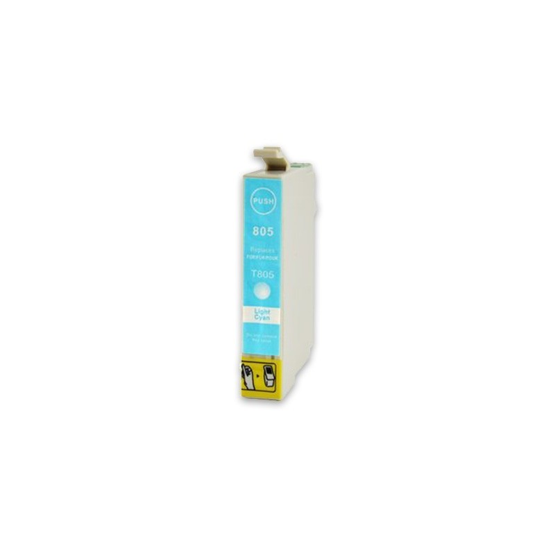 EPSON T0805 ljuscyan bläckpatron kompatibel