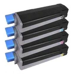 OKI C3100 4-pack lasertoner set kompatibla