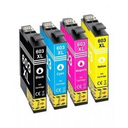 EPSON 603XL 4-pack bläckpatroner multipack kompatibla