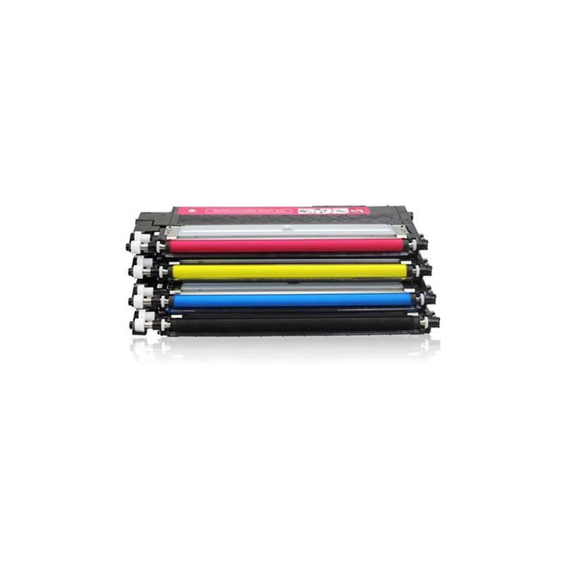 SAMSUNG CLP406C 4-pack  lasertoner set kompatibla