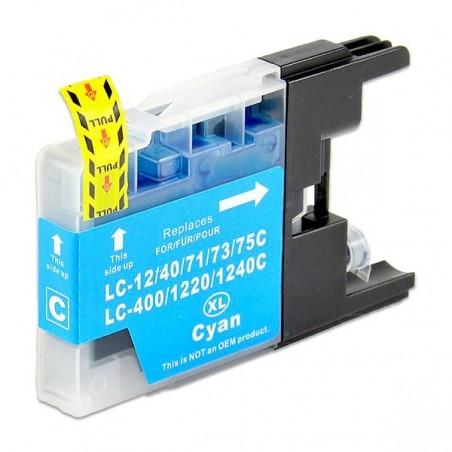 BROTHER LC1240 cyan bläckpatron kompatibel