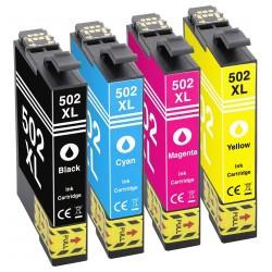 EPSON 502XL 4-pack bläckpatroner multipack kompatibla