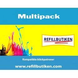 BROTHER LC123 4-pack bläckpatroner multipack kompatibla
