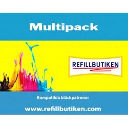 BROTHER LC970 LC1000 4-pack bläckpatroner multipack kompatibla