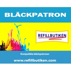 BROTHER LC123BK svart bläckpatron kompatibel