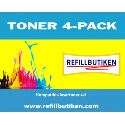 BROTHER TN325 4-pack lasertoner set kompatibla