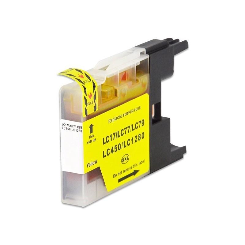 BROTHER LC1280XL gul bläckpatron kompatibel