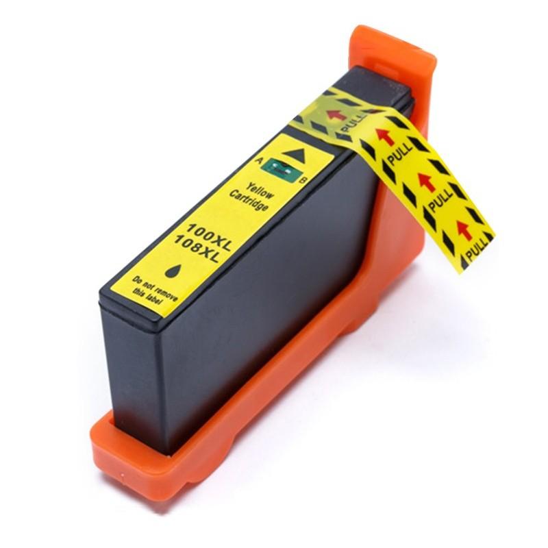 LEXMARK 100XL gul bläckpatron kompatibel