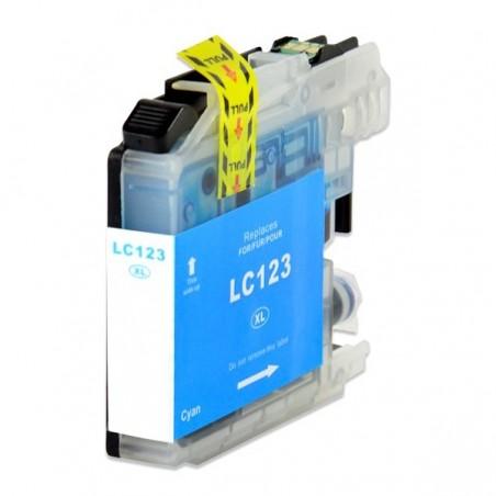 BROTHER LC123 cyan bläckpatron kompatibel