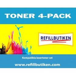 KYOCERA TK520 4-pack lasertoner set kompatibla