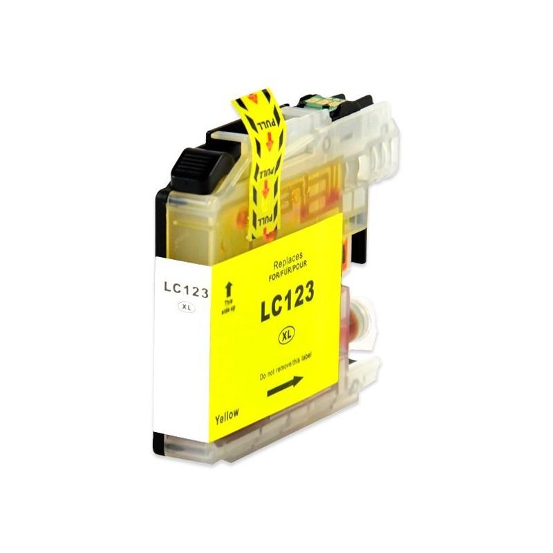 BROTHER LC123 gul bläckpatron kompatibel