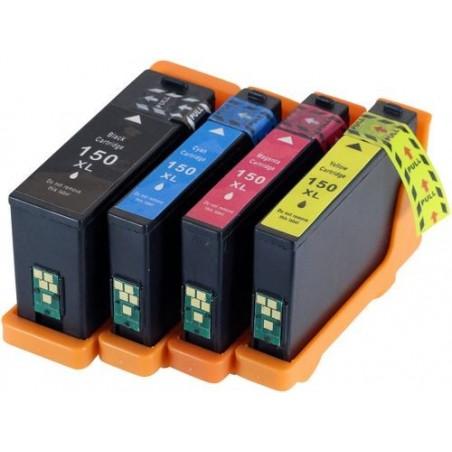 LEXMARK 150XL bläckpatroner multipack 4-pack kompatibla
