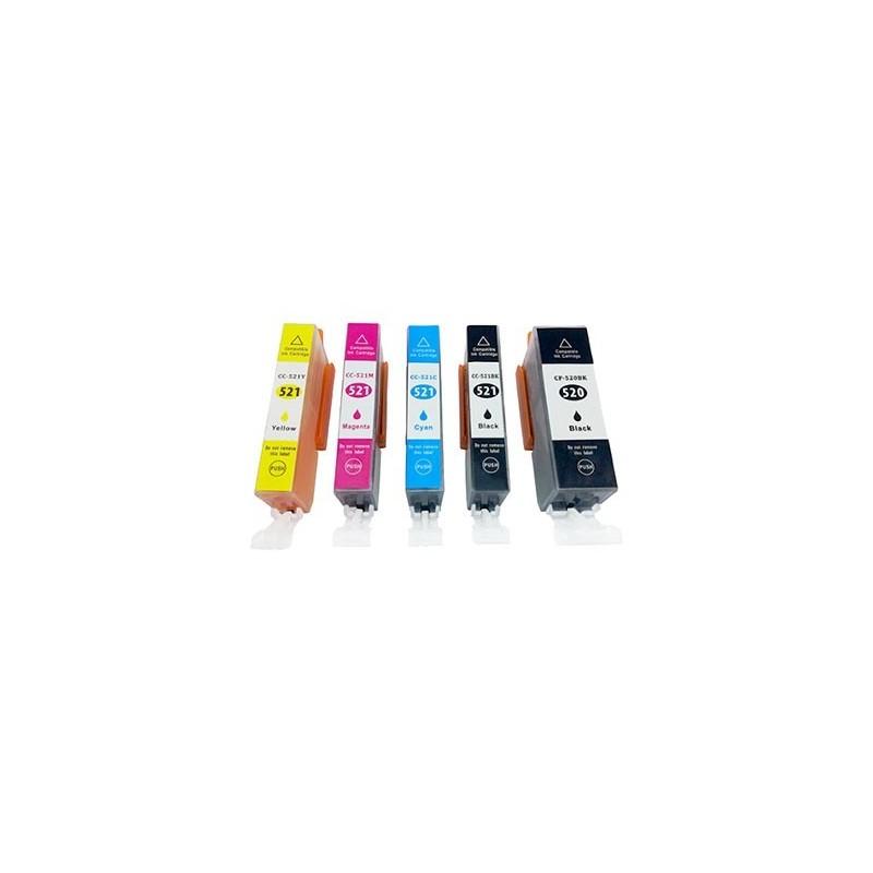 CANON CLI521 bläckpatroner multipack 5-pack kompatibla