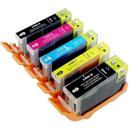 CANON CLI8 5-pack bläckpatroner multipack kompatibla