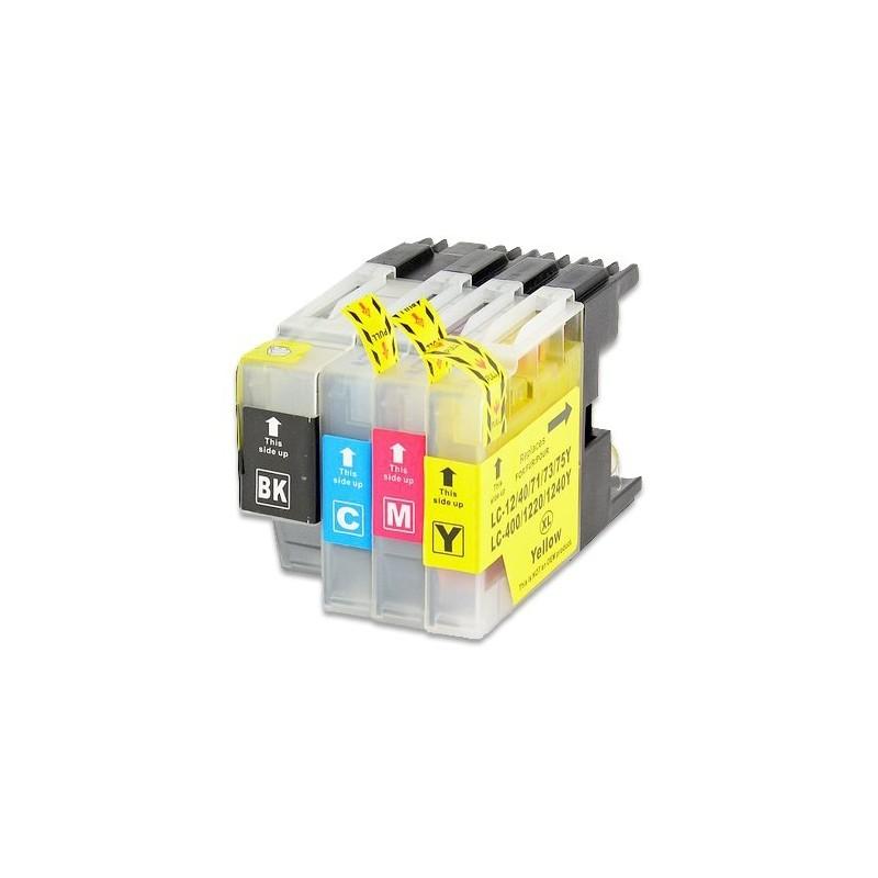 BROTHER LC1240 bläckpatroner multipack 4-pack kompatibla