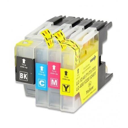 BROTHER LC1240 4-pack bläckpatroner multipack kompatibla