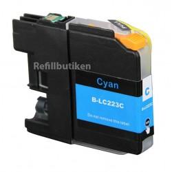 BROTHER LC223 cyan bläckpatron kompatibel