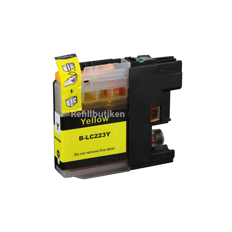 BROTHER LC223 gul bläckpatron kompatibel