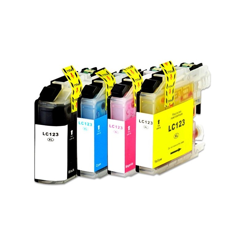 BROTHER LC123 bläckpatroner multipack 4-pack kompatibla