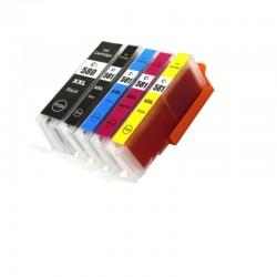 Canon CLI-581 XXL / PGI-580PGBK XXL 5-pack bläckpatroner (varumärket Refillbutiken)