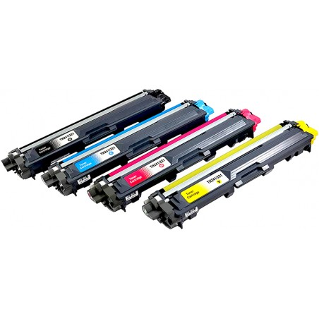 BROTHER TN241 TN245 4-pack lasertoner set kompatibla
