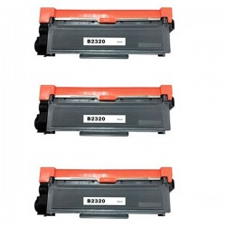 BROTHER TN2320 3-pack svart lasertoner set kompatibla