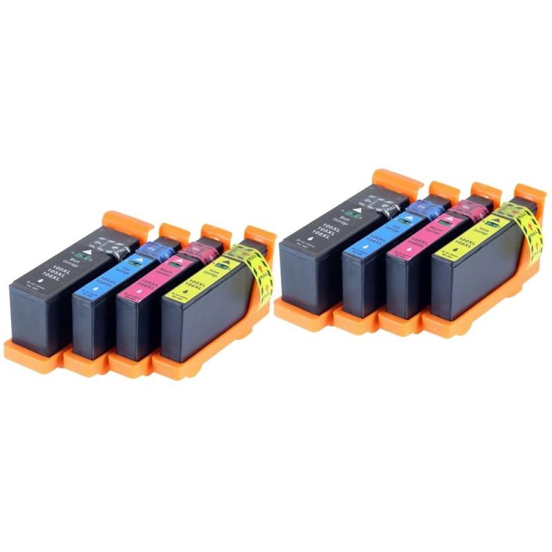 LEXMARK 100XL 8-pack bläckpatroner multipack kompatibla