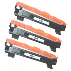 BROTHER TN1050 3-pack svart lasertoner set kompatibla