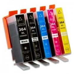 HP 364XL 5-pack bläckpatroner multipack kompatibla
