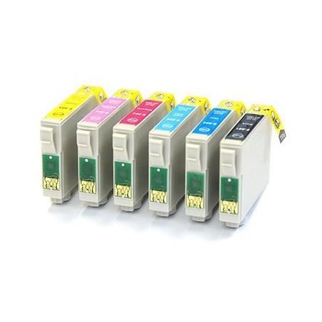 EPSON T0807 bläckpatroner multipack 6-pack kompatibla