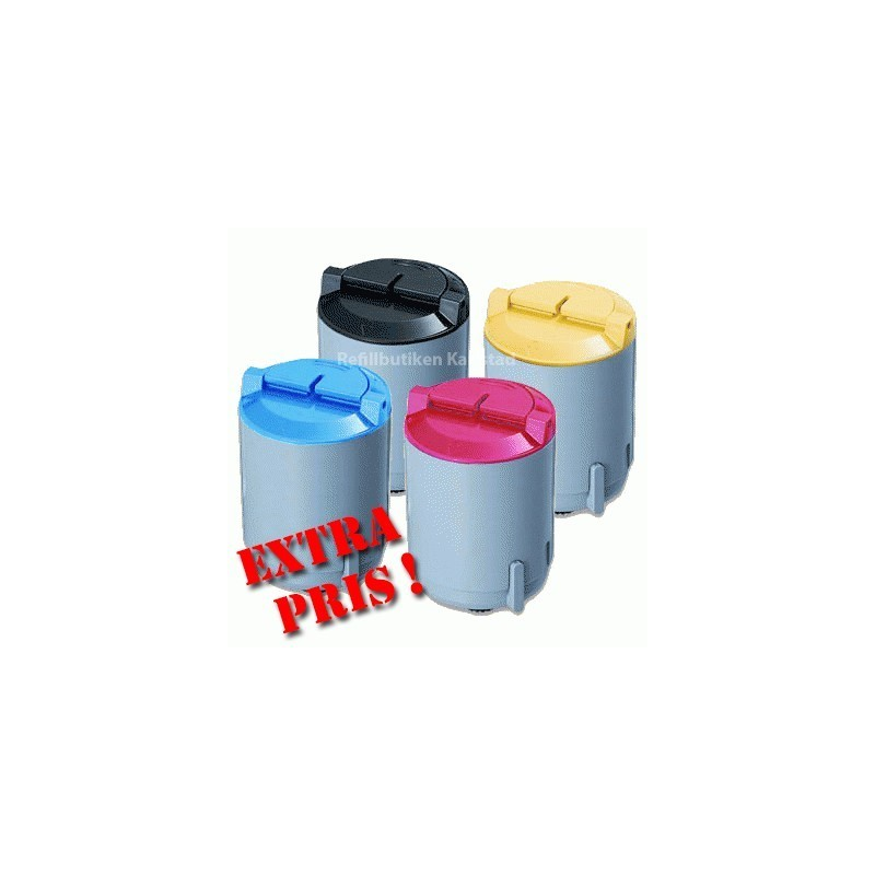 SAMSUNG CLP300 4-pack lasertoner set kompatibla