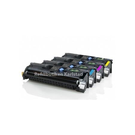 HP Q3960A Q3963A 4-pack lasertoner set kompatibla