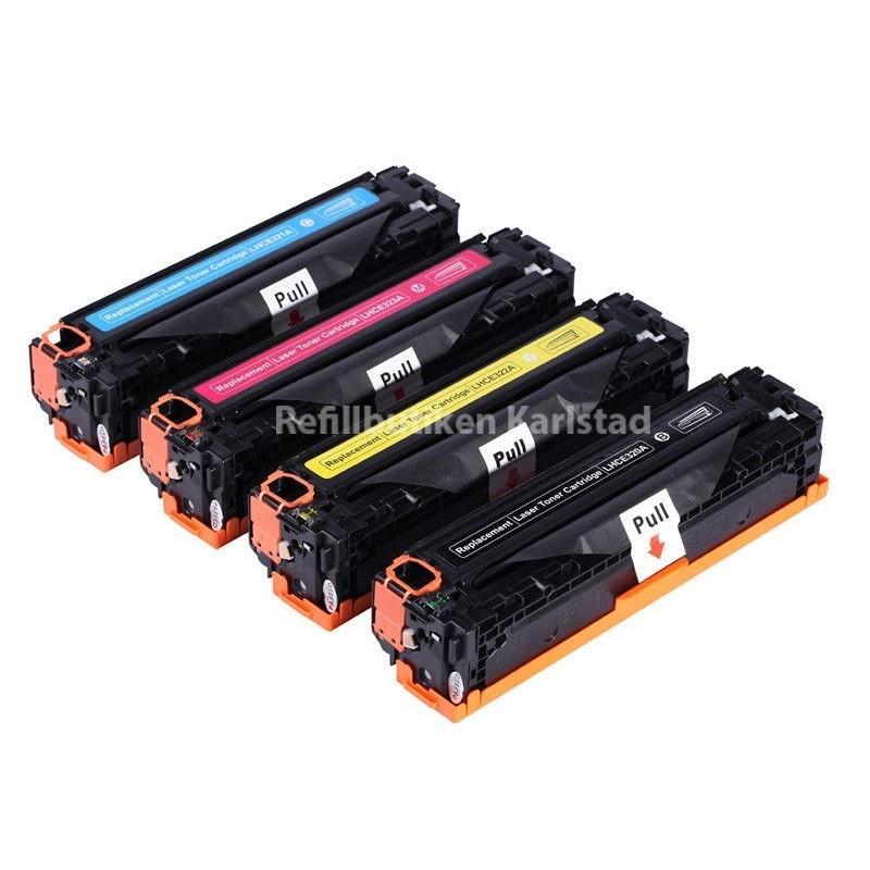 HP Q2670A Q2673A 4-pack lasertoner set kompatibla