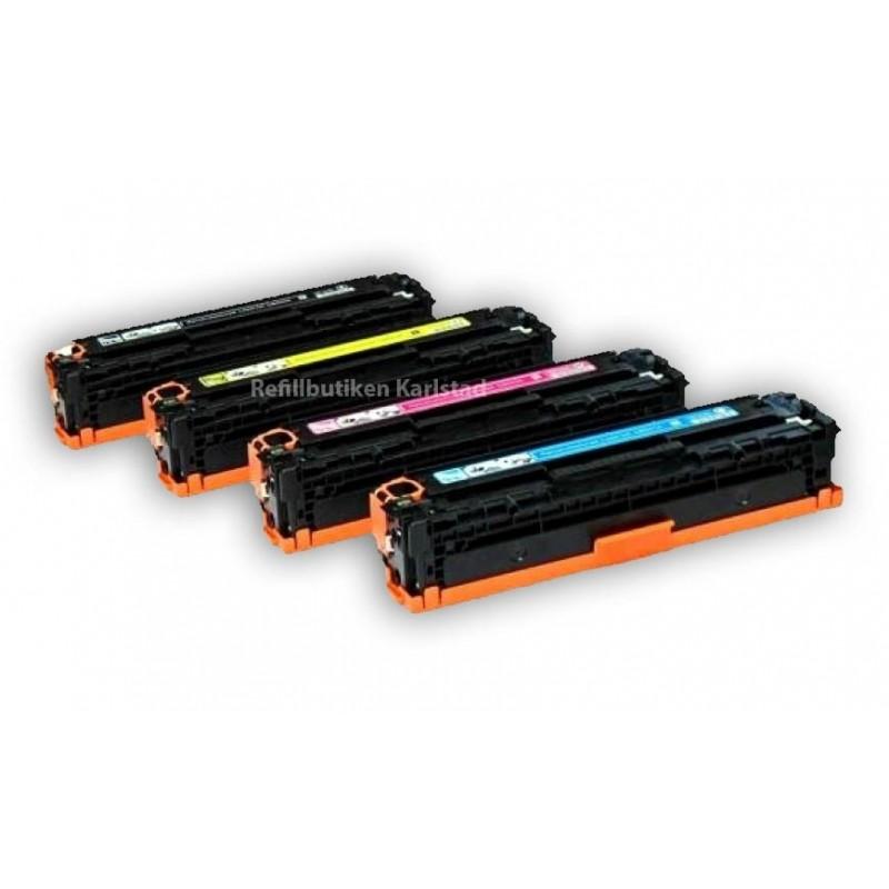 HP CB540A CB543A 4-pack lasertoner set kompatibla