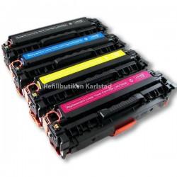 HP CC530A CC533A 4-pack lasertoner set kompatibla