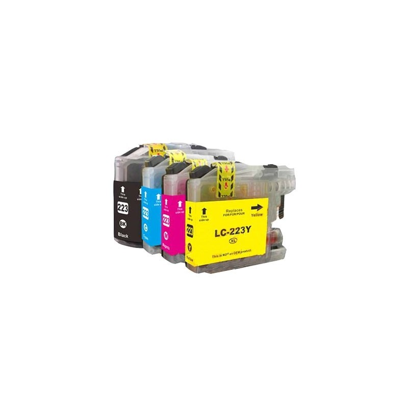 BROTHER LC223 bläckpatroner multipack 4-pack kompatibla