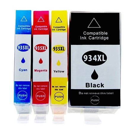 HP 934XL 935XL 4-pack bläckpatroner multipack kompatibla