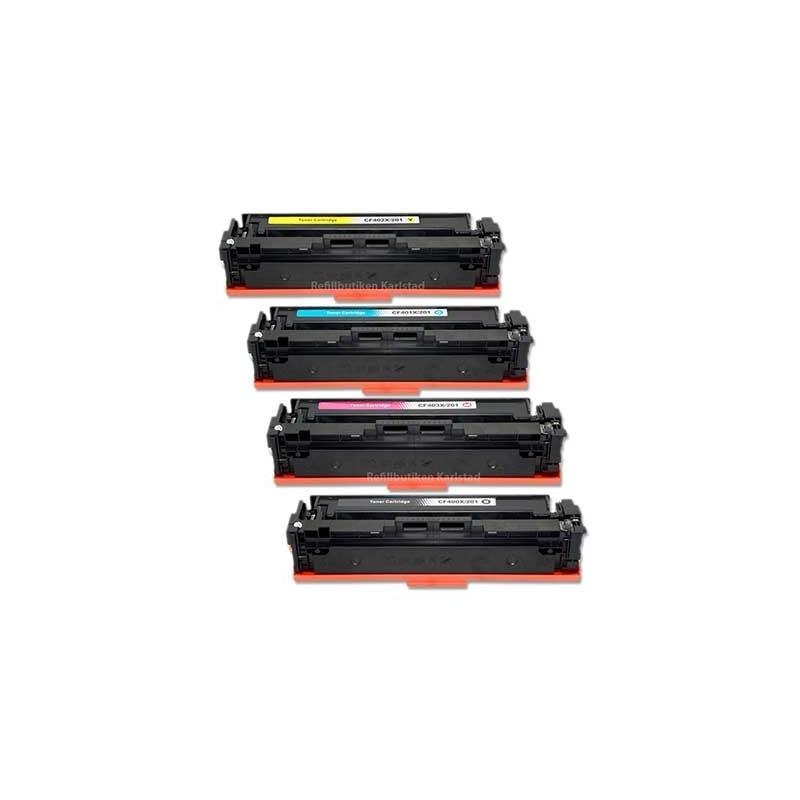 HP CF400X CF403X 4-pack lasertoner set kompatibla