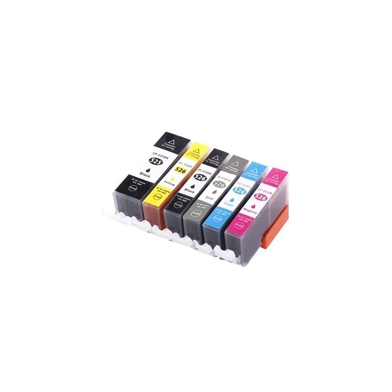 CANON CLI526 bläckpatroner multipack 6 pack kompatibla