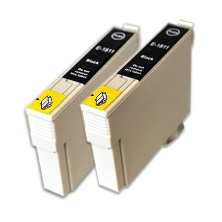 EPSON 18XL 2-pack svart bläckpatroner duopack kompatibla
