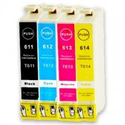 EPSON T0615 4-pack bläckpatroner multipack kompatibla