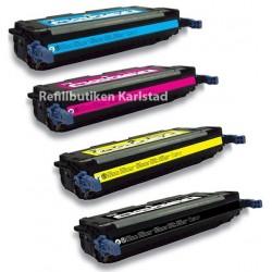HP Q7560A Q7563A 4-pack lasertoner set kompatibla