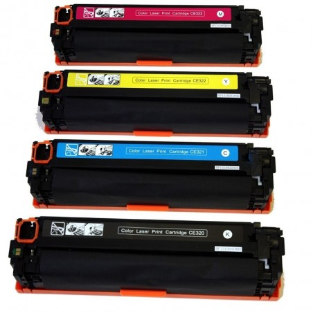 HP CE320A CE321A 4-pack lasertoner set kompatibla