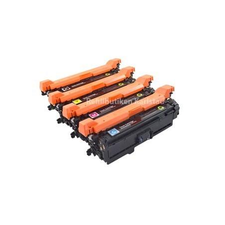 HP CE250X CE253A 4-pack lasertoner set kompatibla