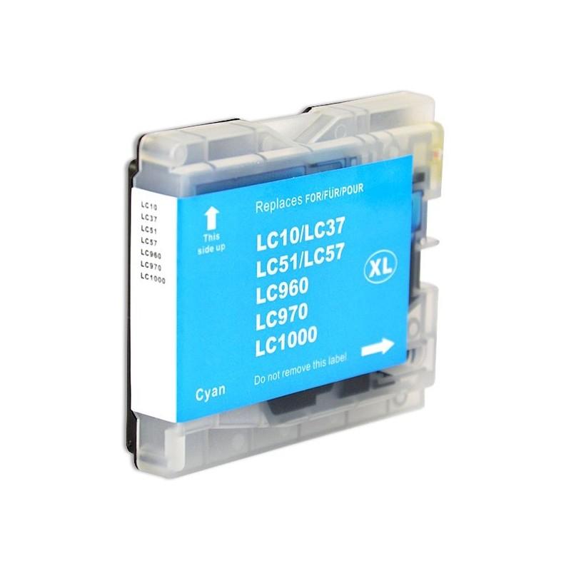 BROTHER LC970-LC1000 cyan bläckpatron kompatibel
