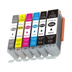 CANON PGI550XL CLI551XL 6 pack multipack bläck kompatibla
