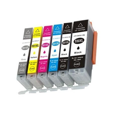 CANON CLI551 XL 6-pack bläckpatroner multipack kompatibla
