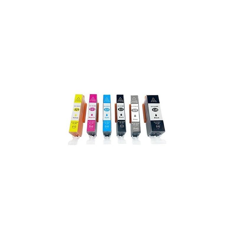 CANON CLI521 bläck multipack 6 pack kompatibla