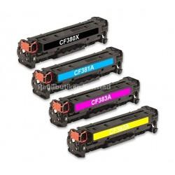 HP CF380X-CF383A lasertoner set kompatibla
